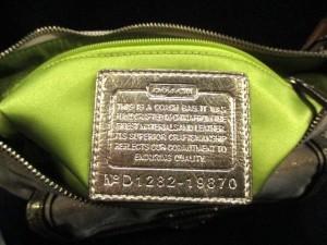 コーチ COACH ハンドバッグ ポピー マドラス グルーヴィー 19870 アイボリー×ゴールド×マルチ ジャガード×レザー【中古】