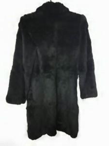 アイシービー ICB コート サイズ9【M】 レディース 黒 ファー/冬物【中古】