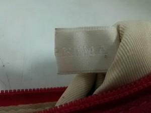 アンテプリマ ANTEPRIMA ポーチ - 白×ベージュ×ピンク リボン/ラインストーン キャンバス【中古】