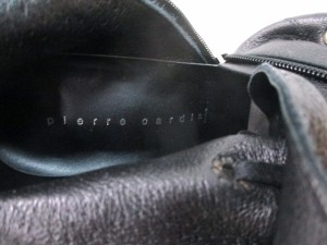 ピエールカルダン pierre cardin ブーツ 250 D レディース 黒 レースアップ レザー【中古】