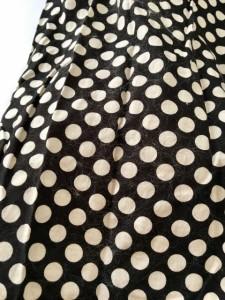 ピンクハウス PINK HOUSE ワンピース レディース 黒×白 シャツワンピ/肩パッド/フリル/ドット柄【中古】