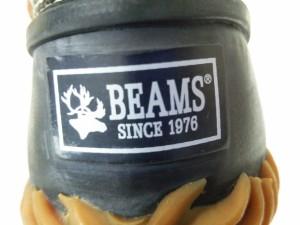 ビームス BEAMS スニーカー 27 メンズ 黒×ライトブラウン ラバー×レザー【中古】
