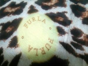 フルラ FURLA ストール(ショール) アイボリー×ダークブラウン×マルチ 豹柄 レーヨン×モダール【中古】