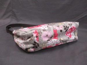 レスポートサック LESPORTSAC ハンドバッグ ライトグレー×ベージュ×ピンク 花柄/ネコ/鳥 レスポナイロン【中古】