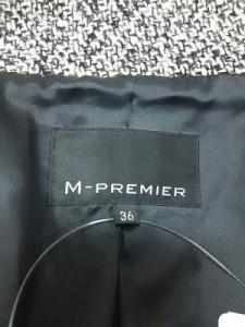 エムプルミエ M-PREMIER コート サイズ36【S】 レディース ダークグレー 冬物【中古】