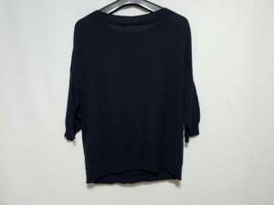 ギャルリーヴィー GALERIE VIE 七分袖セーター サイズ1【S】 レディース ネイビー シルク混【中古】