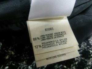 ピアノフォルテマックスマーラ スカートスーツ サイズ4【XL】 レディース 美品 黒×アイボリー 肩パッド/ツイード【中古】