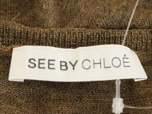 シーバイクロエ SEE BY CHLOE 長袖セーター サイズ38(I)【S】 レディース 美品 ダークブラウン 薄手【中古】