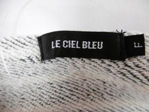 ルシェルブルー LE CIEL BLEU トレーナー サイズ【F】 レディース ダークグレー×白 ボーダー【中古】