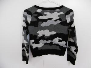 ラブレス LOVELESS 長袖セーター サイズ34【S】 レディース 黒×グレー×ライトグレー 迷彩柄【中古】