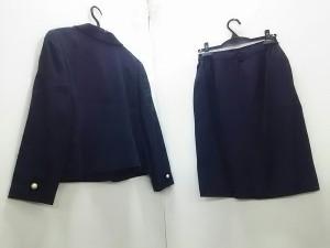 ユキトリイ YUKITORII スカートスーツ サイズ9【M】 レディース ネイビー フェイクパール【中古】