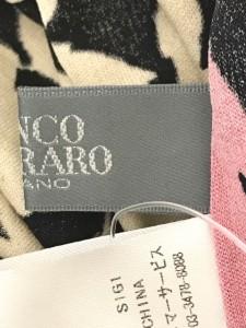 フランコフェラーロ FRANCO FERRARO 長袖カットソー サイズ3 L レディース 美品 ベージュ×黒×ピンク シルク/フラワー【中古】
