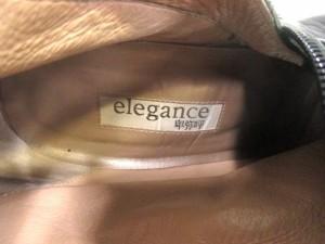 エレガンスヒミコ Elegance卑弥呼 ロングブーツ 23 レディース 黒 レザー×スエード【中古】