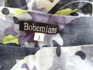 ボヘミアンズ Bohemians チュニック サイズ1 S レディース ライトグレー×黒×マルチ 花柄/スター【中古】
