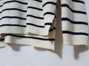 ジユウク 自由区/jiyuku 長袖セーター サイズ38 M レディース 新品同様 白×ダークネイビー ボーダー【中古】
