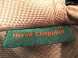 エルベシャプリエ Herve Chapelier ショルダーバッグ カーキ×黒 ナイロン【中古】