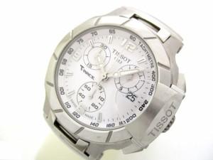ティソ TISSOT 腕時計 美品 T-RACE 12BN9006511/T048.217.17.017.00 ボーイズ クロノグラフ/ラバーベルト 白【中古】