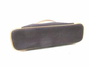 ニナリッチ NINARICCI ハンドバッグ ダークブラウン×ベージュ PVC(塩化ビニール)×レザー【中古】