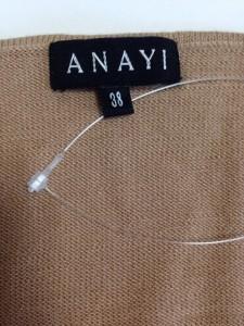 アナイ ANAYI 長袖セーター サイズ38 M レディース ライトブラウン【中古】