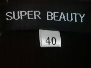 スーパービューティー カーディガン サイズ40 M レディース ダークブラウン×ボルドー×マルチ ベロア/フリル/ラメ【中古】