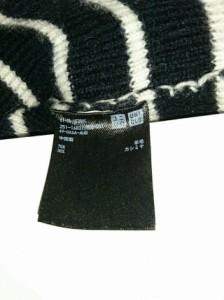 ユニクロアンドルメール UNIQLOANDLEMAIRE 長袖セーター サイズM レディース 美品 黒×アイボリー ボーダー【中古】