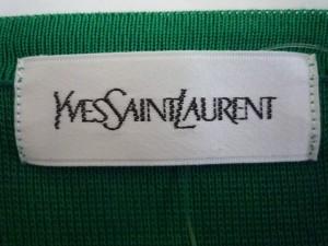 イヴサンローラン YvesSaintLaurent カーディガン サイズM レディース 美品 グリーン×イエロー×オレンジ 肩パッド【中古】
