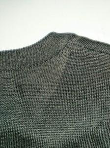 セリーヌ CELINE ノースリーブセーター サイズS レディース ダークグレー ラメ【中古】