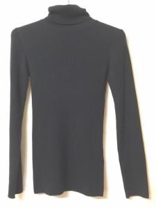 ランバンオンブルー LANVIN en Bleu 長袖セーター サイズ38 M レディース 美品 黒 タートルネック【中古】