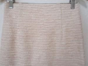 アナイ ANAYI スカートセットアップ サイズ38 M レディース ライトピンク×白 ツイード/ラメ【中古】