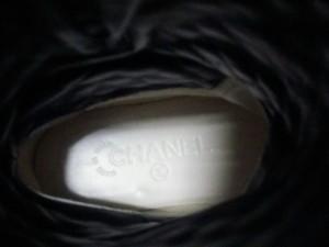 シャネル CHANEL ブーツ 36 レディース マトラッセ G28566 黒 エンジニア ラムスキン【中古】