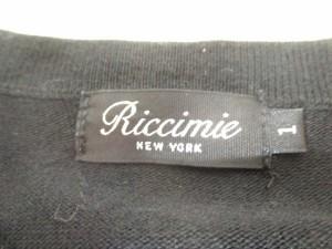 リッチミーニューヨーク Riccimie NEW YORK カーディガン サイズ1 S レディース 黒 ビジュー【中古】