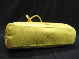 エトロ ETRO トートバッグ イエロー×ブラウン×ゴールド ラメ/ペイズリー柄 化学繊維【中古】