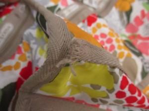 レスポートサック LESPORTSAC ハンドバッグ 白×ベージュ×マルチ 花柄 レスポナイロン【中古】