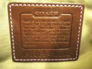コーチ COACH ショルダーバッグ パッチワークシグネチャー 10004 ブラウン×アイボリー×マルチ ジャガード×レザー【中古】