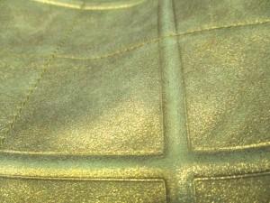 サルバトーレフェラガモ SalvatoreFerragamo トートバッグ - ゴールド ラメ/キルティング レザー【中古】