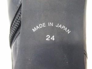 トラサルディー TRUSSARDI ブーツ 24 レディース 黒 レザー【中古】