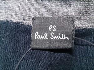 ポールスミス PaulSmith カーディガン サイズS メンズ 美品 ベージュ×黒 半袖【中古】