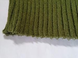 ホコモモラ JOCOMOMOLA 半袖セーター サイズ40 XL レディース 美品 ダークグリーン×パープル ボーダー【中古】