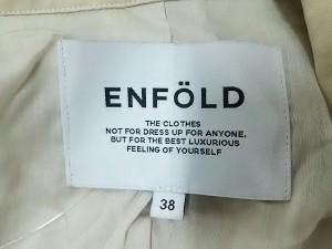 エンフォルド ENFOLD コート サイズ38 M レディース 美品 ベージュ 変形デザイン/春・秋物【中古】