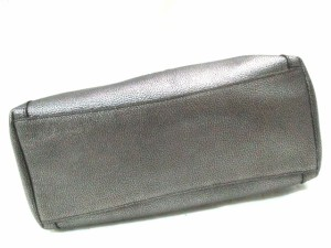 コーチ COACH トートバッグ 美品 イーディー ショルダー バッグ 36101 シルバー レザー【中古】