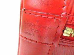 ルイヴィトン LOUIS VUITTON ハンドバッグ エピ アルマ M52147 カスティリアンレッド レザー(LVロゴの刻印入り)【中古】