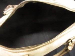 グッチ GUCCI ハンドバッグ ジョイGG柄 193603 アイボリー×ゴールド ミニボストン PVC(塩化ビニール)×レザー【中古】