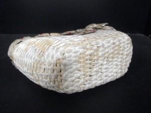 プラダ PRADA トートバッグ - 白×ライトグレー×マルチ かごバッグ/リボン ストロー×化学繊維【中古】
