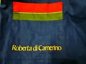 ロベルタ ディ カメリーノ Roberta di camerino ワンピース レディース 美品 ネイビー×レッド×マルチ エプロン【中古】