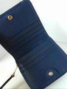 クロエ Chloe 2つ折り財布 美品 - 3P0292-889 ネイビー レザー【中古】