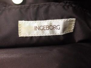 インゲボルグ INGEBORG トートバッグ ダークブラウン ナイロン×合皮【中古】