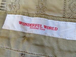 ワンダフルワールド WONDERFUL WORLD スカートセットアップ レディース 美品 ベージュ レース【中古】