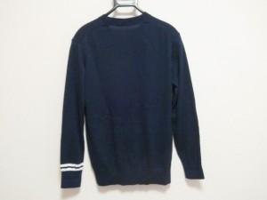 ブラックレーベルクレストブリッジ 長袖セーター サイズ2 M レディース 美品 ネイビー×白 碇モチーフ【中古】