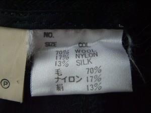 ポールスチュアート PaulStuart パンツ サイズ40 M レディース 美品 黒 シルク混/ヘリンボーン【中古】