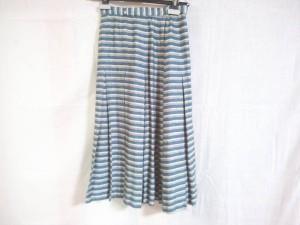 レリアン Leilian スカート サイズ9 M レディース ブルー×グレー ボーダー【中古】